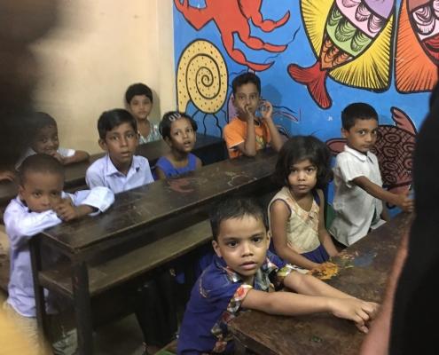 Slum Schule Bangladesch