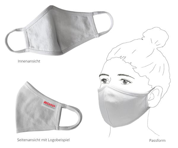 Textile Mund-Nasen-Maske